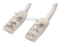 StarTech.com 7 m Cat6 UTP netwerkkabel met snagless RJ45 connectoren - wit - 7m  UTP patchkabel